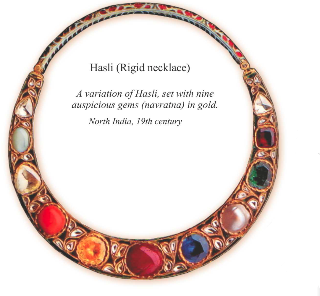 Hansli rigid necklace front and revers